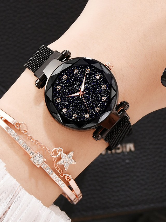 Women's Quartz Watches Quartz Modern Style Stylish Classic Casual Watch Analog - Rose Gold White+Coffee Black One Year Battery Life / Imitation Diamond