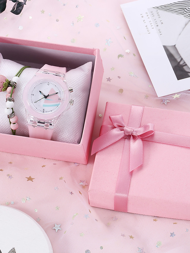 Women's Quartz Watches Quartz New Arrival Chronograph Rubber White / Pink / Sky Blue Analog - White Blushing Pink Sky Blue / Luminous