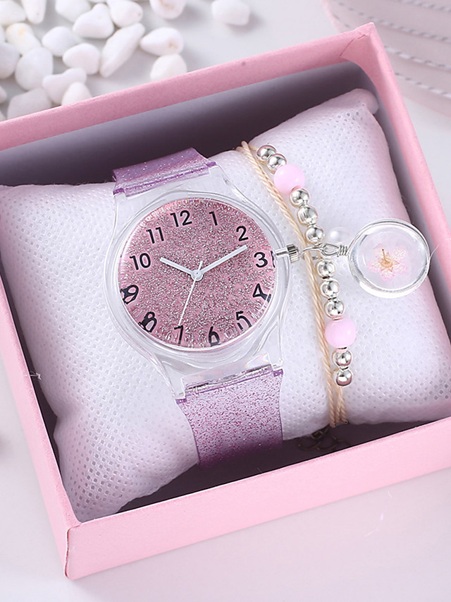 Women's Quartz Watches Quartz New Arrival Chronograph Rubber Silver / Pink Analog - Blushing Pink Silver One Year Battery Life