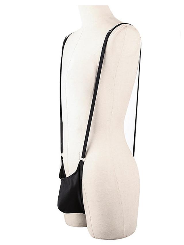 Men's Basic Briefs Underwear - Normal 1 Piece High Waist Black One-Size