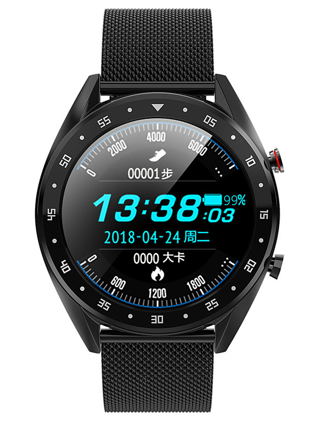 L7 Unisex Smart Wristbands Android iOS Bluetooth Waterproof Touch Screen Heart Rate Monitor Blood Pressure Measurement Calories Burned ECG+PPG Stopwatch Pedometer Call Reminder Sleep Tracker