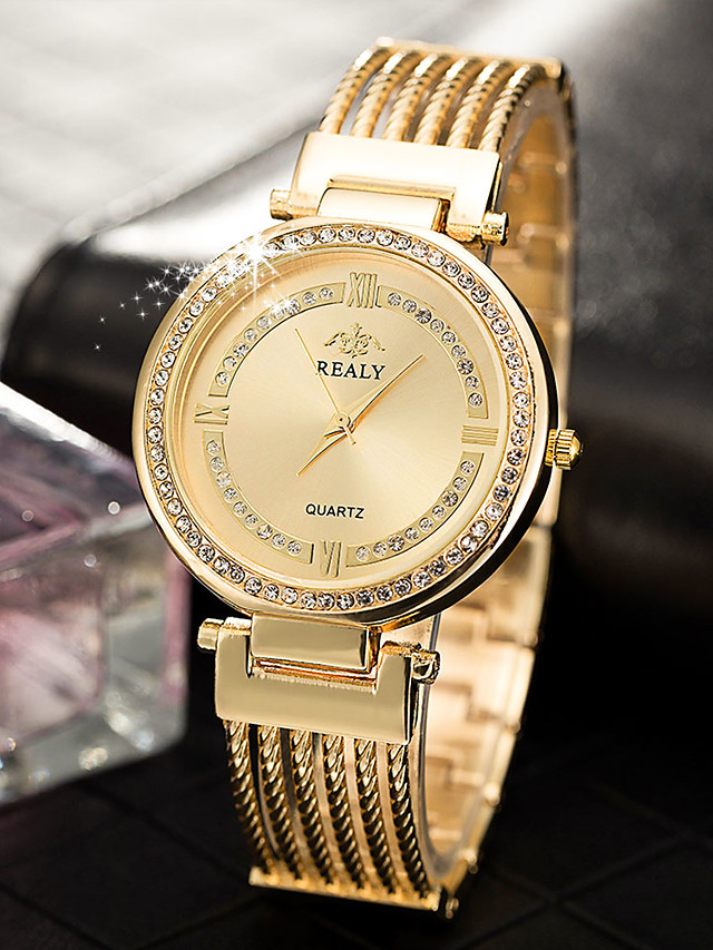 Women's Quartz Watches Quartz Modern Style Stylish Casual Casual Watch Silver / Gold / Rose Gold Analog - Rose Gold Gold Silver One Year Battery Life / Stainless Steel / Imitation Diamond