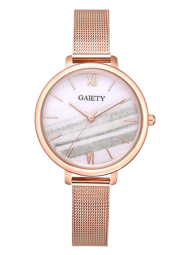 Ladies Quartz Watches Quartz Formal Style Modern Style Elegant Casual Watch Rose Gold Analog - White Blue Blushing Pink One Year Battery Life