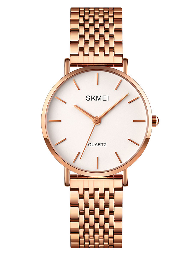 SKMEI Ladies Quartz Watches Quartz Formal Style Modern Style Elegant Water Resistant / Waterproof Stainless Steel Silver / Rose Gold Analog - Rose Gold Silver One Year Battery Life / Shock Resistant