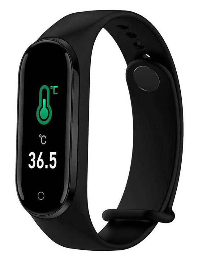 M4PT Unisex Smartwatch Smart Wristbands Android iOS Bluetooth Waterproof Sports Thermometer Exercise Record Health Care Pedometer Call Reminder Activity Tracker Sleep Tracker Sedentary Reminder