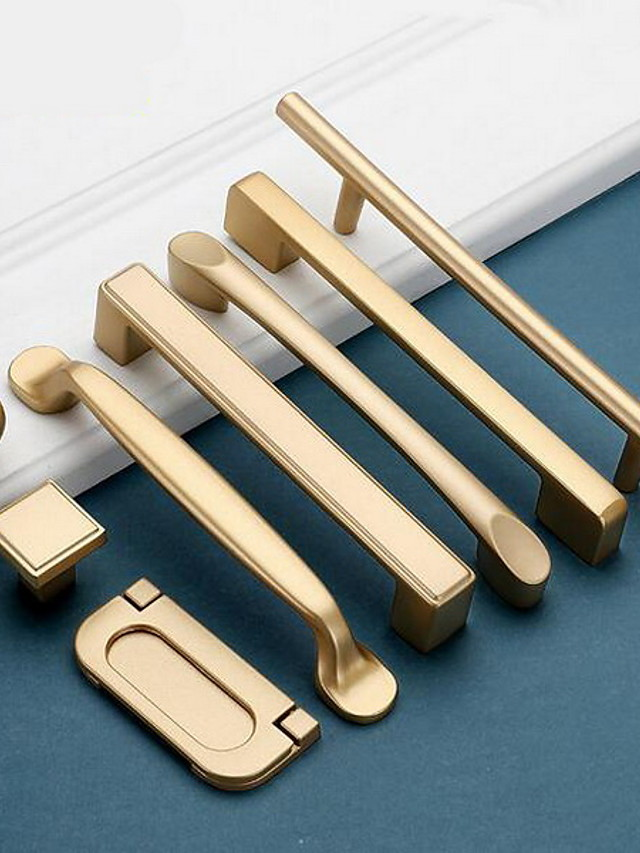 Wardrobe Handle Wardrobe Door Handle Nordic Extended Cabinet Handle Light Luxury Gold Drawer Handle Hardware