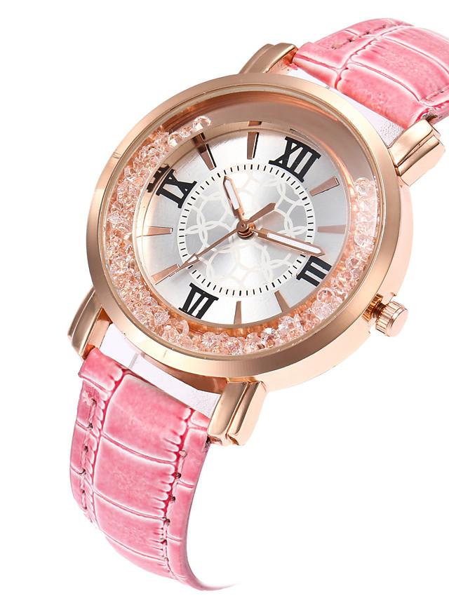 Women's Quartz Watches Digital Stylish Fashion Casual Watch Genuine Leather Black / Blue / Red Analog - White Black Blue One Year Battery Life