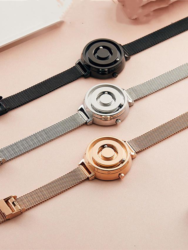 Women's Quartz Watches Quartz Luxury Casual Watch Stainless Steel Genuine Leather Analog - Golden+Black Black Yellow One Year Battery Life / Japanese / Japanese