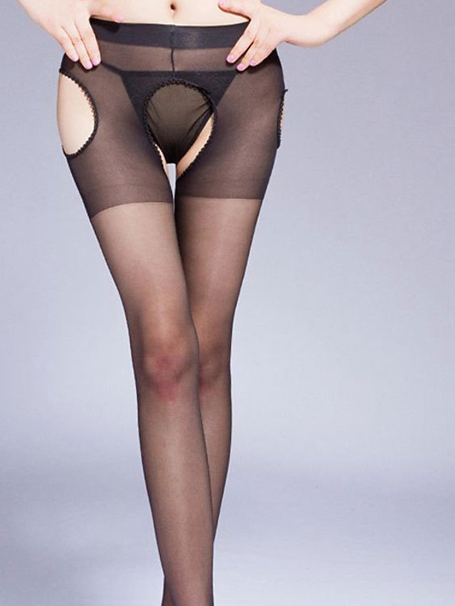 Women's Thin Stockings - Sexy / Lace 30D Black One-Size