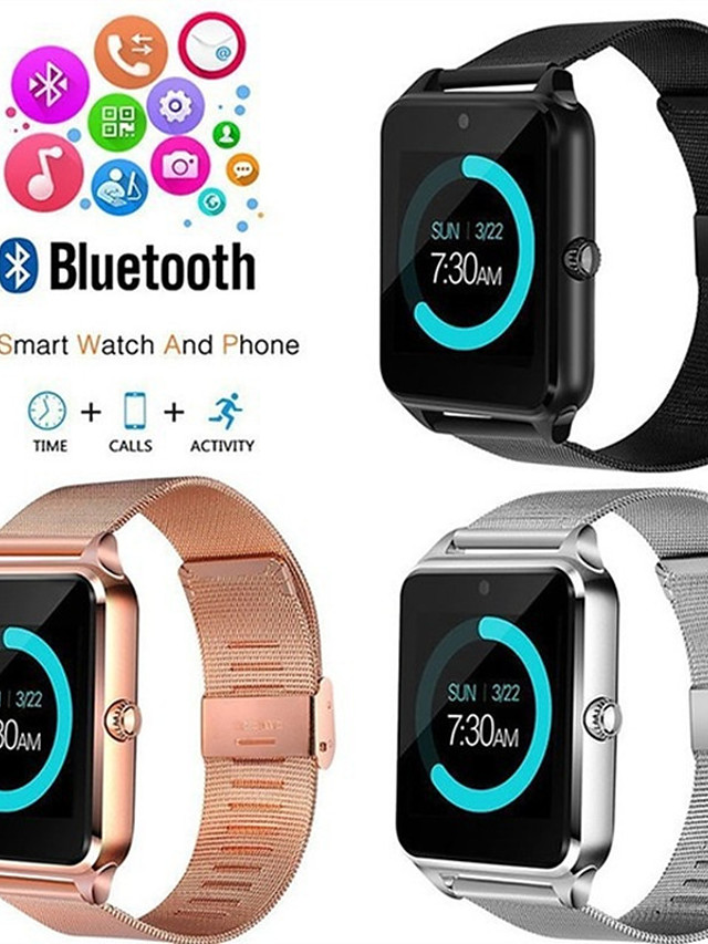 Z60 Unisex Smartwatch Android Bluetooth Waterproof Heart Rate Monitor Blood Pressure Measurement Health Care Blood Oxygen Monitor ECG+PPG Sleep Tracker Exercise Reminder