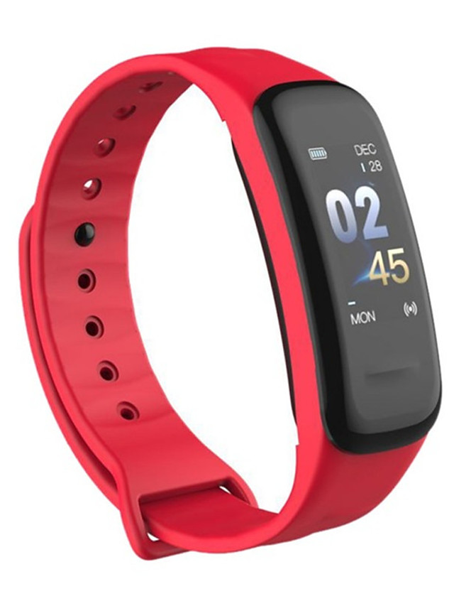 C1plus Unisex Smart Wristbands Android iOS Bluetooth Heart Rate Monitor Blood Pressure Measurement Sports Calories Burned Long Standby Stopwatch Pedometer Call Reminder Sleep Tracker Sedentary