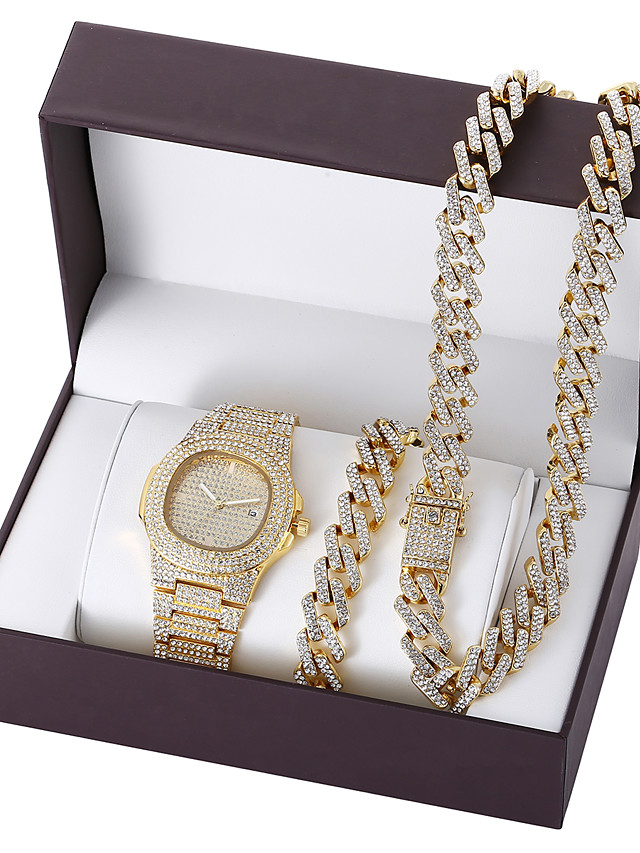 Men's Steel Band Watches Analog Quartz Formal Style Modern Style Luxury Altimeter Calendar / date / day Chronograph