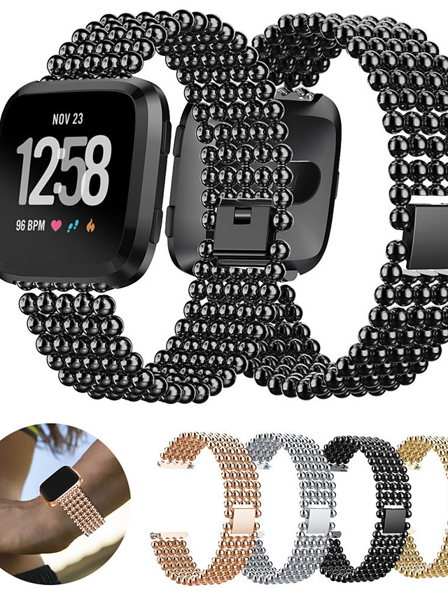 Stainless Steel Watch Band Strap for Fitbit Versa 17cm / 6.69 Inches 2.3cm / 0.91 Inches