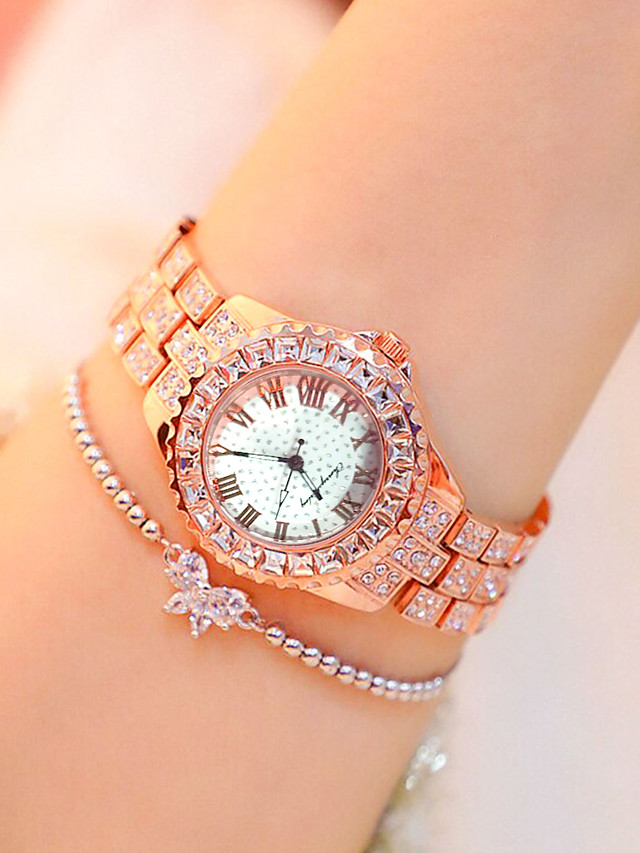 Women's Quartz Watches Quartz Modern Style Stylish Classic Casual Watch Silver / Gold / Rose Gold Analog - Rose Gold Gold Silver One Year Battery Life / Imitation Diamond