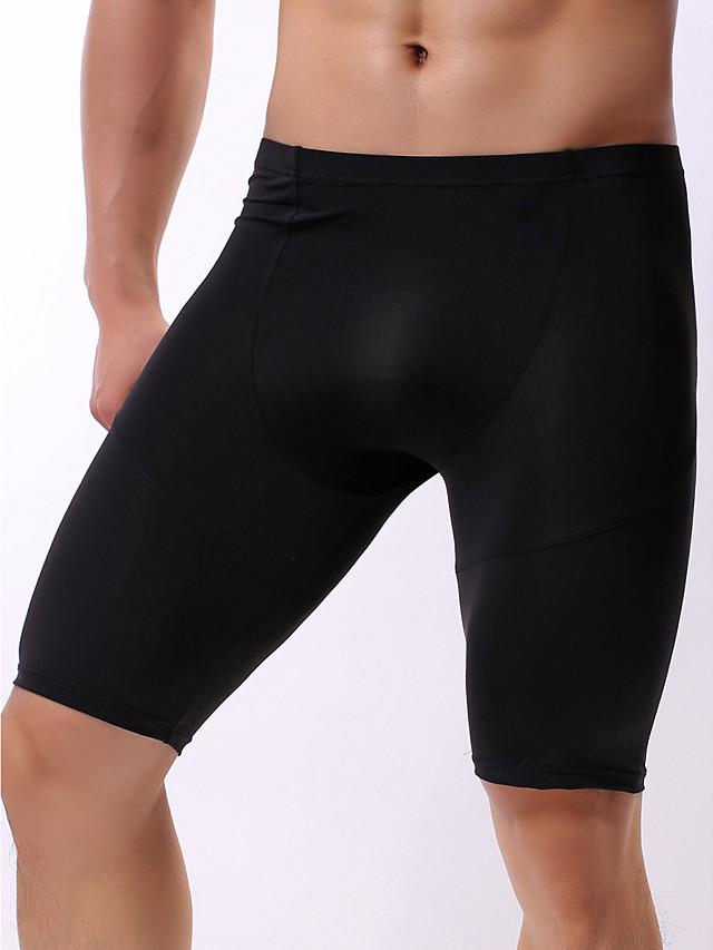 Men's Basic Boxers Underwear - Normal Low Waist White Black Blue M L XL