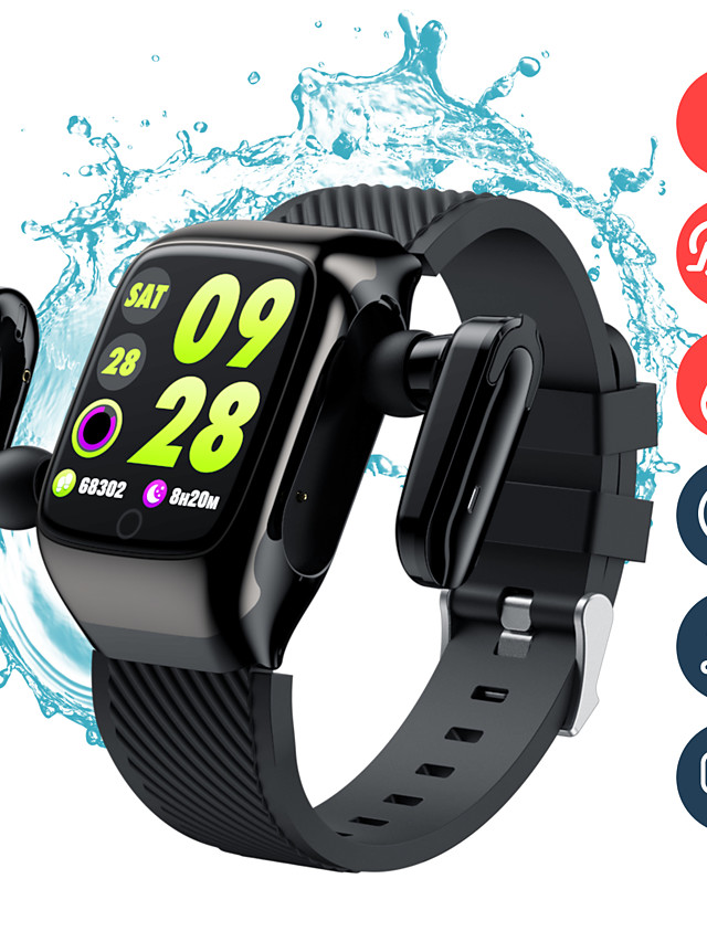 696 S300 Unisex Smartwatch Smart Wristbands Android iOS Bluetooth Heart Rate Monitor Blood Pressure Measurement Sports Hands-Free Calls Information Stopwatch Pedometer Call Reminder Activity Tracker
