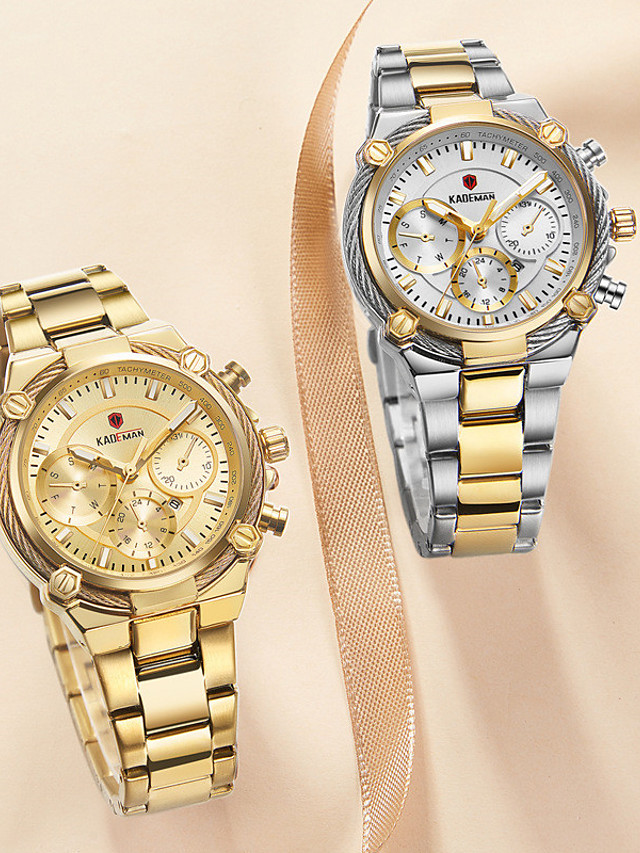 Women's Quartz Watches Quartz Stylish Elegant Water Resistant / Waterproof Stainless Steel Analog - Rose Gold Golden+Silver Black