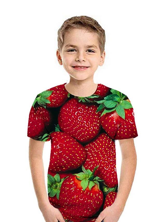 Kids Boys' Street chic Fruit Short Sleeve Tee Black