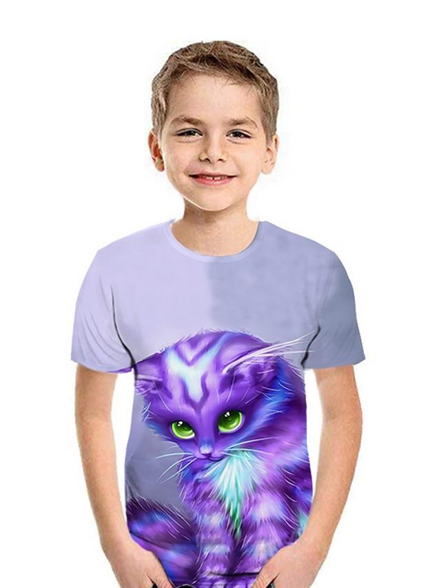 Kids Boys' Street chic Animal Short Sleeve Tee Blue