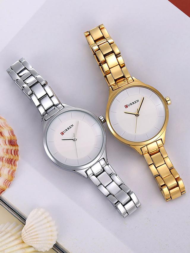 Women's Quartz Watches Quartz Stylish Fashion Casual Watch Black / Rose Gold Analog - Rose Gold Golden+Black Golden+White One Year Battery Life