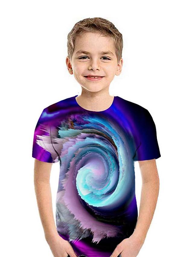 Kids Boys' Street chic 3D Short Sleeve Tee Purple