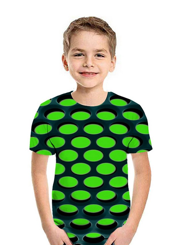 Kids Boys' Street chic Geometric Short Sleeve Tee White