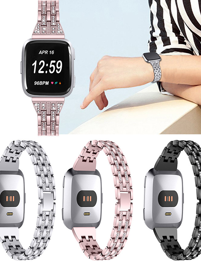 Stainless Steel Watch Band Strap for Fitbit Versa 18cm / 7 Inches 2.3cm / 0.91 Inches