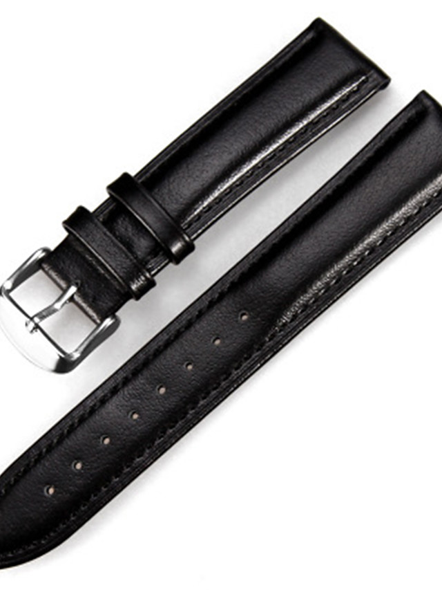 Genuine Leather / Leather Watch Band Black / Brown 20cm / 7.9 Inches 1.2cm / 0.47 Inches / 1.4cm / 0.55 Inches / 1.6cm / 0.6 Inches