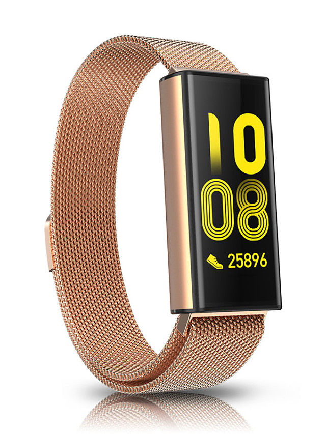 FT520 Unisex Smart Wristbands Android iOS Bluetooth Heart Rate Monitor Blood Pressure Measurement Calories Burned Long Standby Health Care Stopwatch Pedometer Call Reminder Sleep Tracker Sedentary