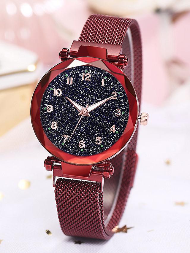 Women's Quartz Watches Quartz Modern Style Stylish Casual Casual Watch Black / Blue / Red Analog - Rose Gold Black Blue One Year Battery Life / Imitation Diamond