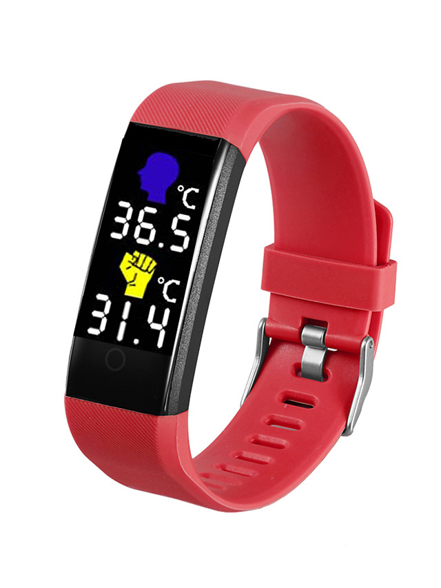 696 TW115 Plus Unisex Smart Wristbands Android iOS Bluetooth Heart Rate Monitor Blood Pressure Measurement Sports Thermometer Information Pedometer Call Reminder Activity Tracker Sleep Tracker Find