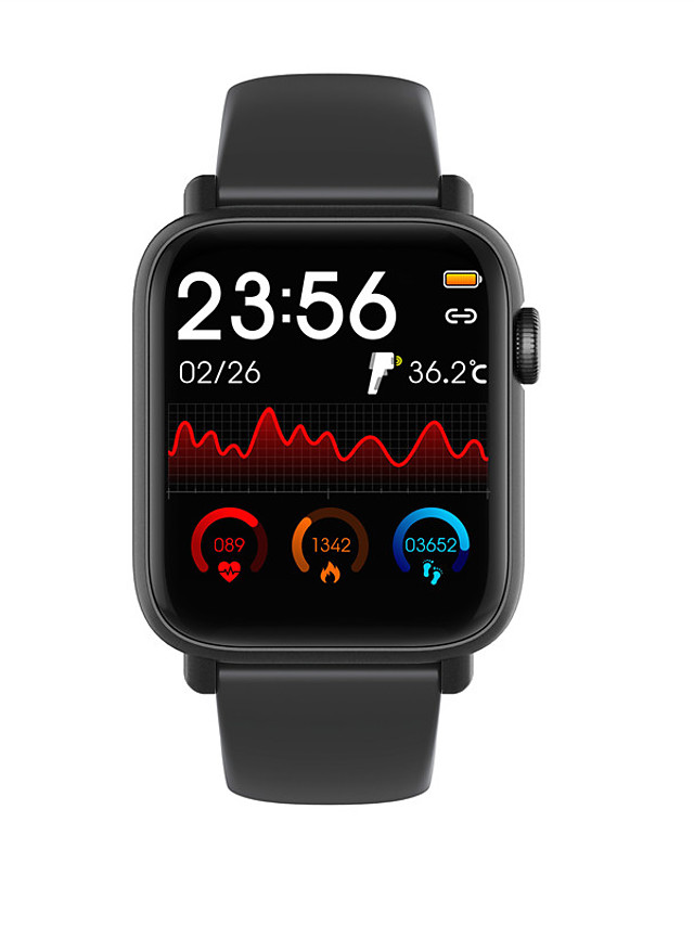 QS19 Unisex Smart Wristbands Android iOS Bluetooth Heart Rate Monitor Blood Pressure Measurement Calories Burned Thermometer Health Care Stopwatch Pedometer Call Reminder Sleep Tracker Sedentary