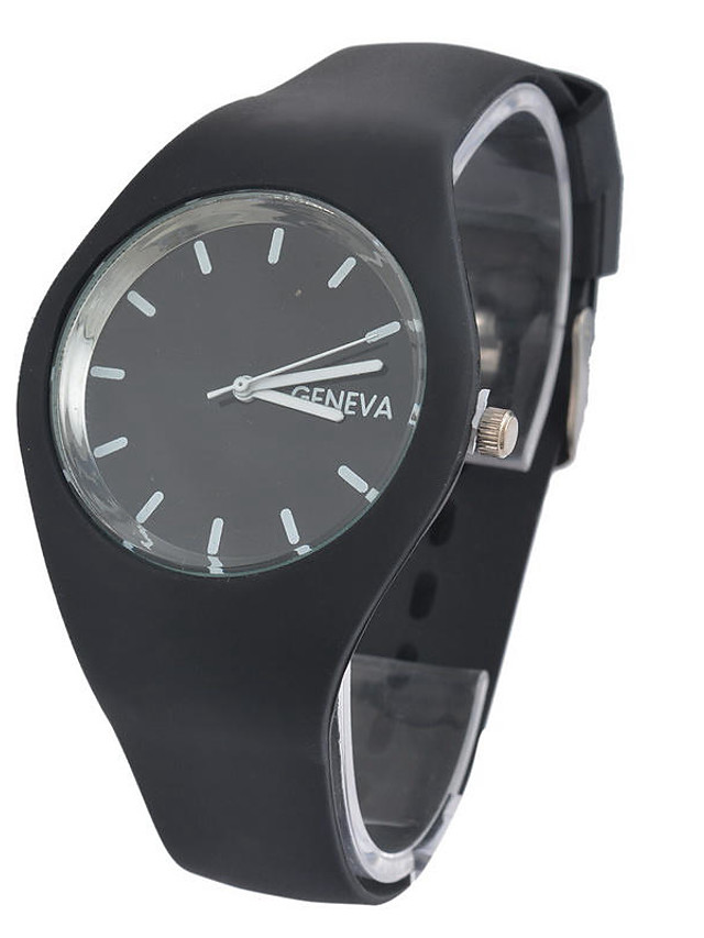 Women's Quartz Watches Quartz Stylish Fashion Casual Watch Silicone Black / Blue / Purple Analog - White Black Blue One Year Battery Life