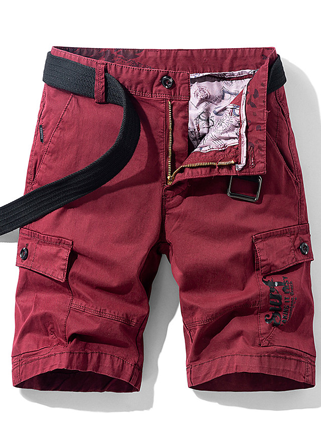 Men's Hiking Shorts Hiking Cargo Shorts Solid Color Summer Outdoor 10