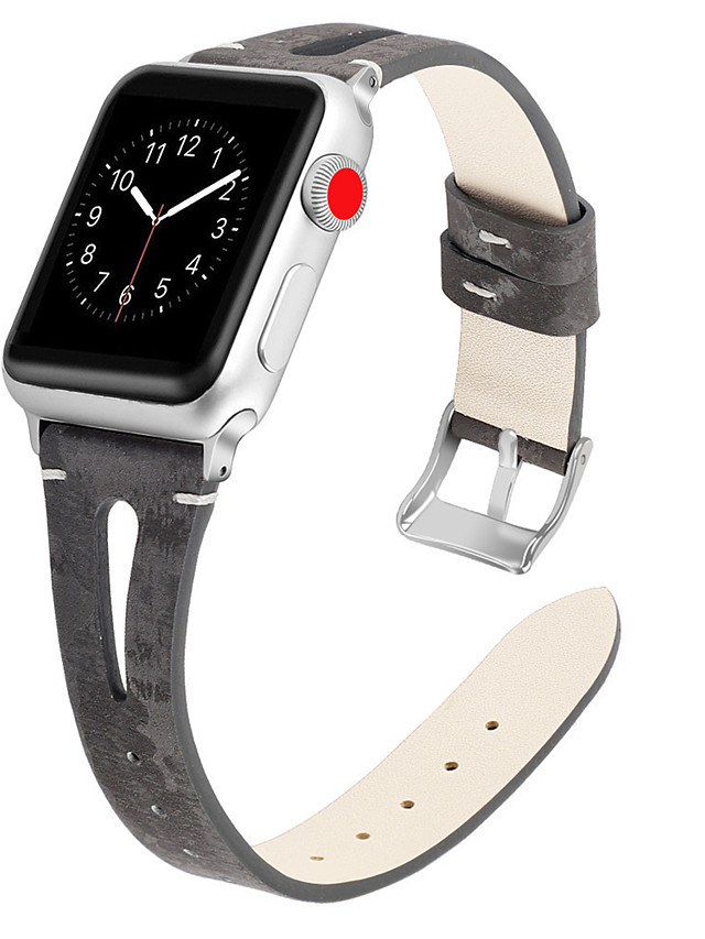 Genuine Leather Watch Band Strap for Apple Watch Series 5/4/3/2/1 21cm / 8.27 Inches 1.7cm / 0.67 Inches