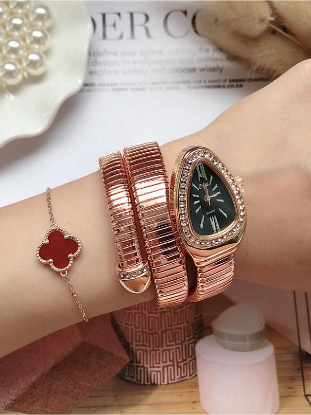 Women's Quartz Watches Quartz Stylish Fashion Casual Watch Rose Gold Analog - Rose Gold White / Black Golden+Black One Year Battery Life