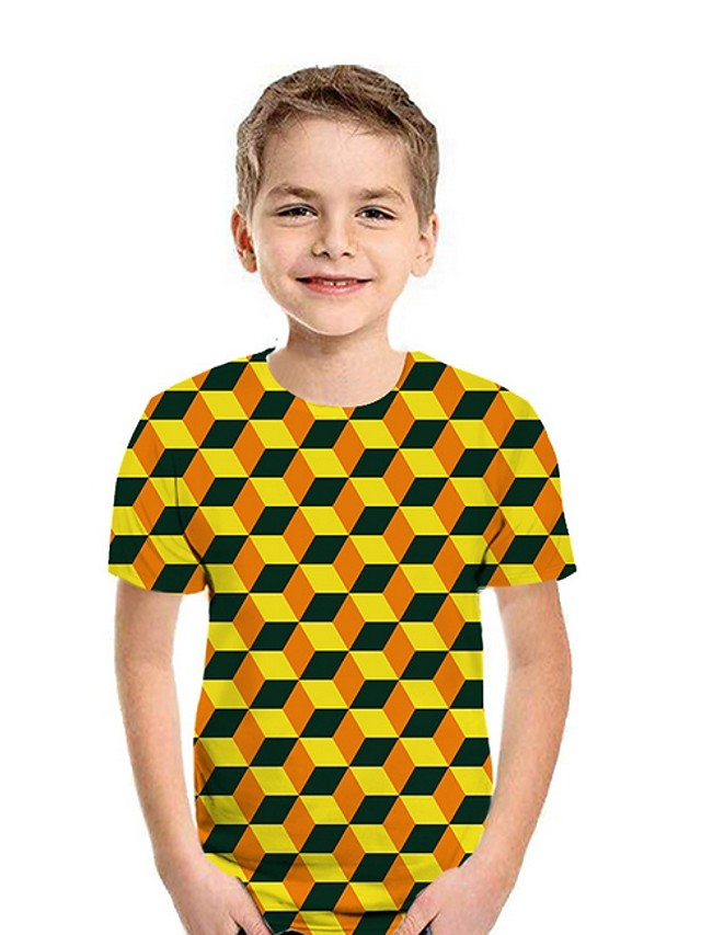 Kids Boys' Street chic Geometric Short Sleeve Tee White