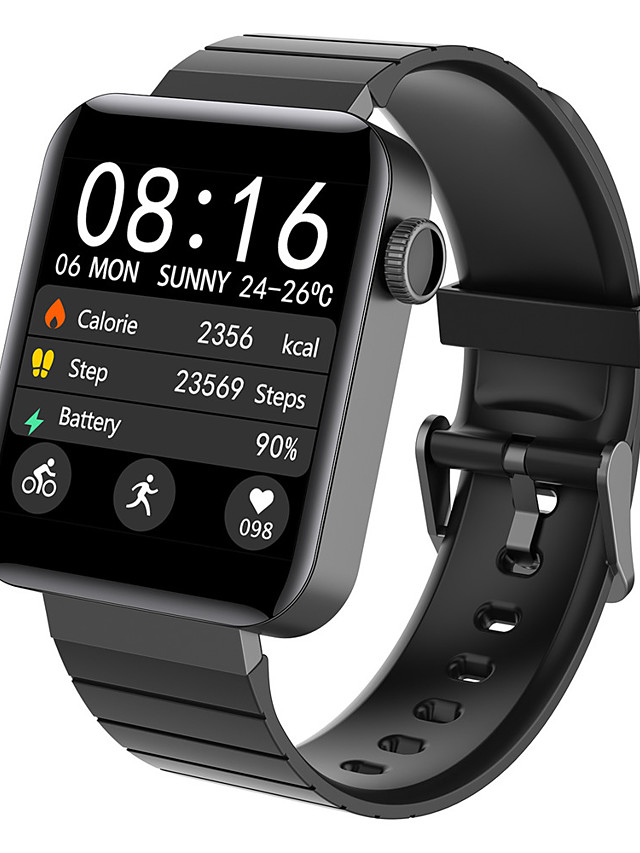 M5P Unisex Smartwatch Smart Wristbands Android iOS Bluetooth Waterproof Heart Rate Monitor Sports Exercise Record Health Care Pedometer Call Reminder Activity Tracker Sleep Tracker Sedentary Reminder