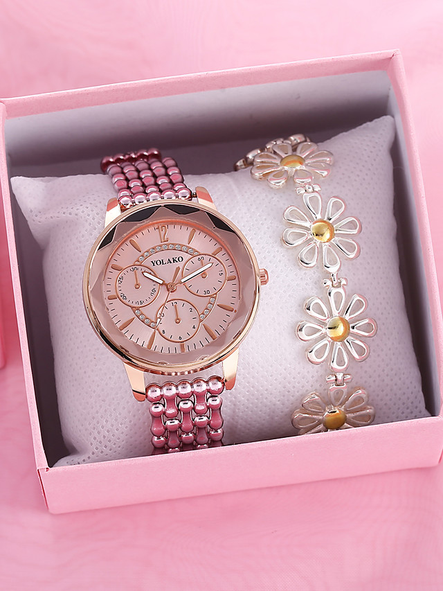 Women's Quartz Watches Quartz Novelty Stylish Classic Chronograph Silver / Gold / Pink Analog - Blushing Pink Gold Silver