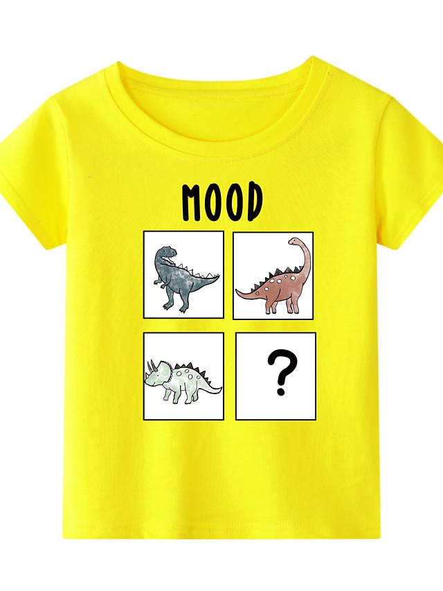 Kids Toddler Boys' Chinoiserie Fantastic Beasts Animal Print Short Sleeve Tee White