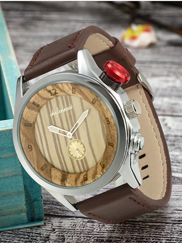 Women's Quartz Watches Quartz Vintage Wooden Wood Analog - Wood Black Brown One Year Battery Life / Japanese / Large Dial / Japanese