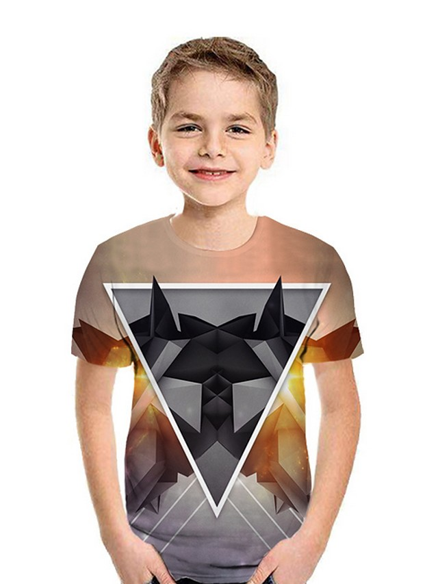 Kids Boys' Street chic Geometric Short Sleeve Tee Black