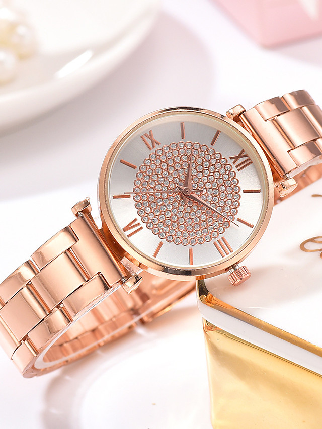 Ladies Quartz Watches Quartz Formal Style Modern Style Elegant Casual Watch Rose Gold Analog - White Black Blue One Year Battery Life
