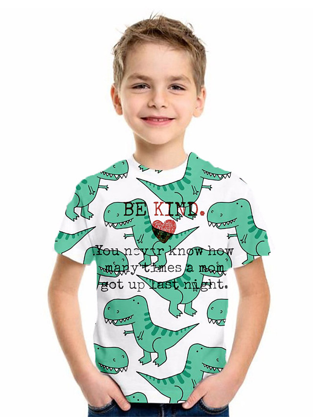 Kids Boys' Basic Geometric Print Short Sleeve Tee Green
