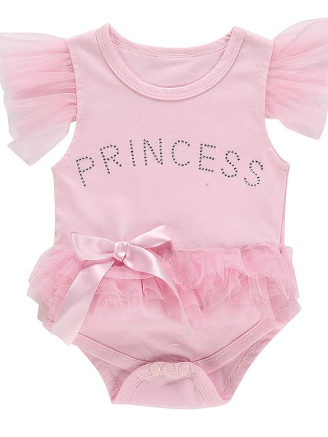 Baby Girls' Basic Floral Short Sleeves Romper Blushing Pink