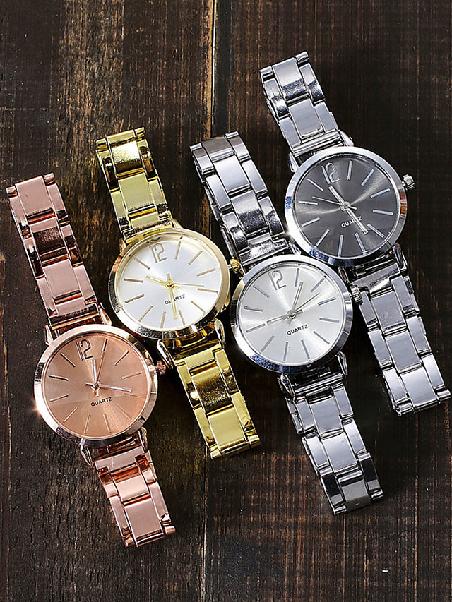 Women's Quartz Watches Quartz Stylish Fashion Adorable Silver / Rose Gold Analog - Rose Gold Black Gold One Year Battery Life