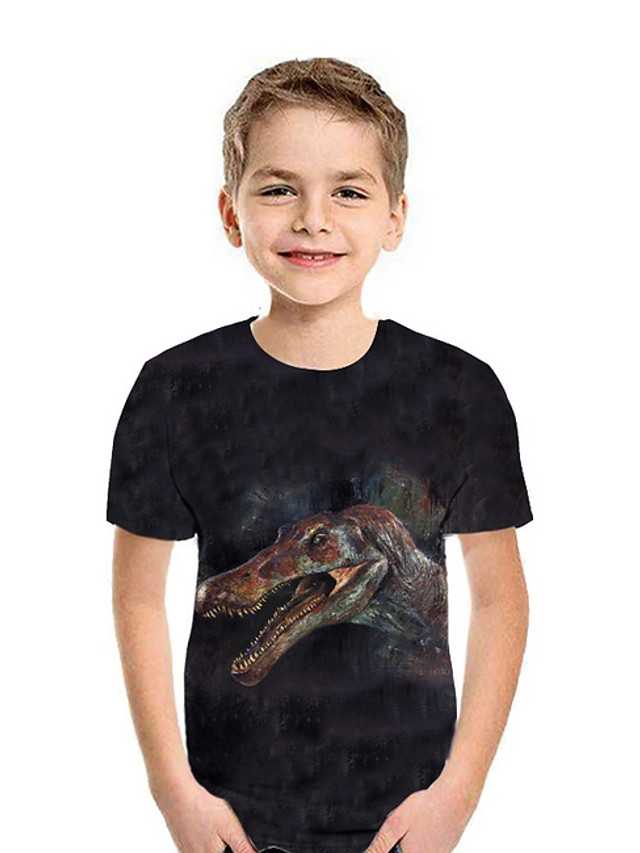 Kids Boys' Street chic 3D Short Sleeve Tee Black