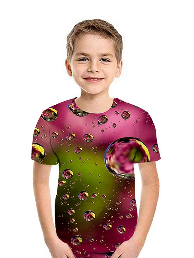 Kids Boys' Street chic Geometric Short Sleeve Tee Red