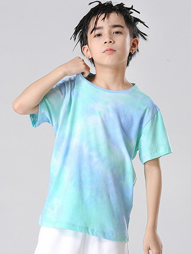 Kids Boys' Basic Tie Dye Short Sleeve Tee Light Blue