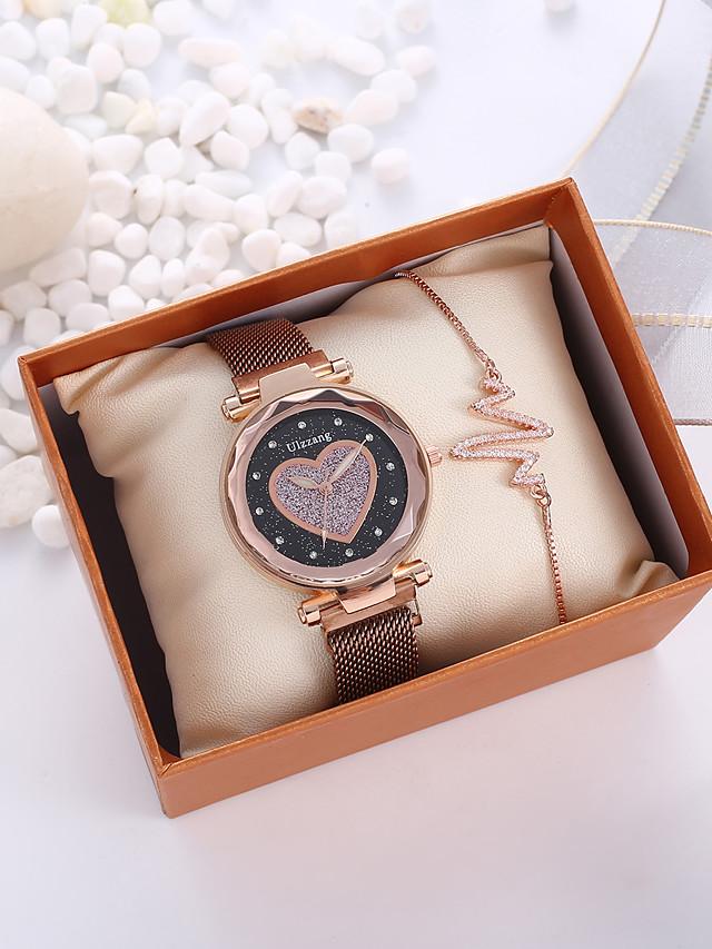 Women's Quartz Watches Quartz Vintage Style Stylish New Arrival Chronograph Black / Brown Analog - Black Brown / Imitation Diamond